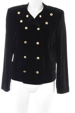 Tweed blazer zwart extravagante stijl