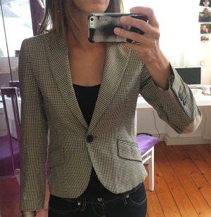 Zara Tweed Blazer multicolored cotton