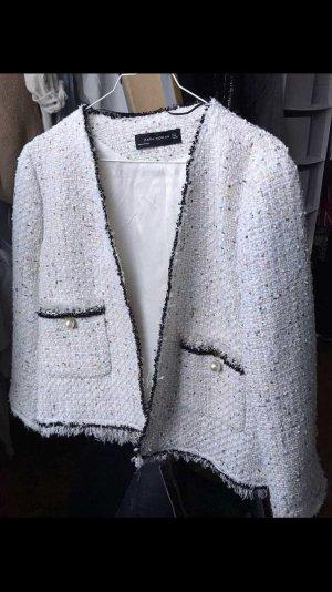 Tweedjacke mit Pailetten Zara