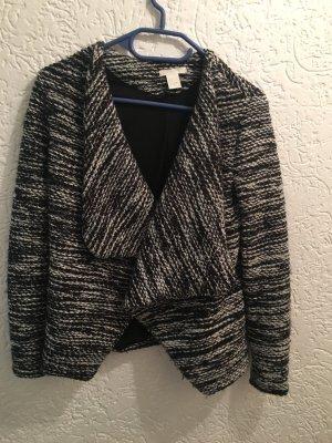 Tweedjacke schwarz/weiß