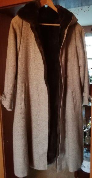 Manteau à capuche crème-beige