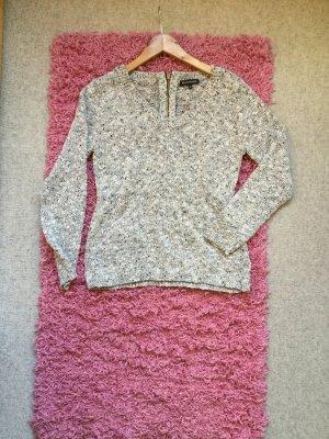Tweedpullover mit rundem Ausschnitt mit Glitzergarn