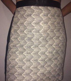 H&M Jupe en tweed noir-blanc cassé