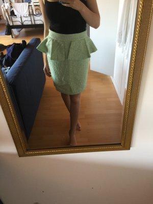 Zara Jupe en tweed vert menthe-blanc
