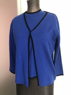 Tweenset Twin Set Strick Jacke Shirt Gr 36 38 S Elegance  Royalblau 100% Wolle Luxus