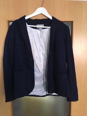 H&M Tweed blazer wit-donkerblauw