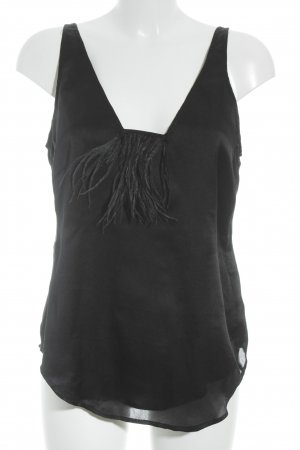 Twelfth st. by cynthia vincent Top in seta nero elegante