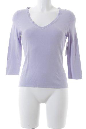 Twelve&Co V-Ausschnitt-Pullover helllila Elegant