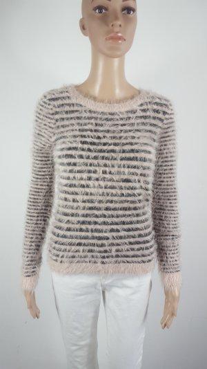 Twenty Three Damen Kuschel Strickpullover Stripes rose grau Größe XS