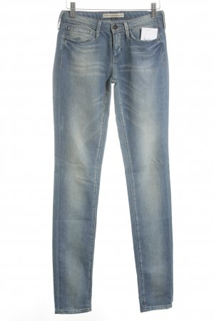 Twenty8twelve Five-Pocket-Hose creme-stahlblau Farbtupfermuster Casual-Look
