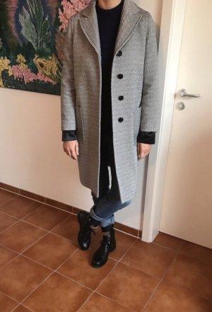 Twill Mantel schwarz weiß