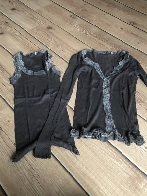Rich & Royal Twin Set tipo suéter marrón grisáceo Algodón