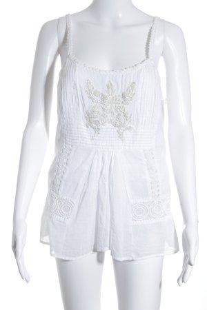 Twin set Blouse sans manche blanc cassé motif floral style Boho