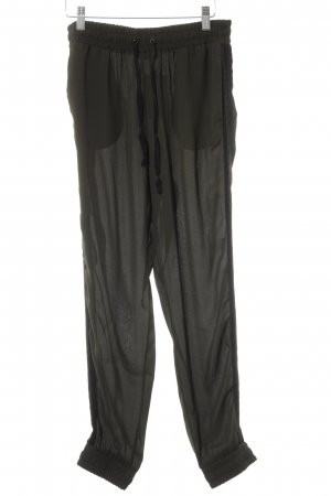 Twin set Pantalone largo cachi-nero stile casual