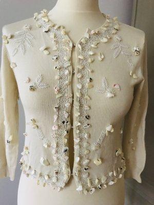 Twin-Set Simona Barbieri Knitted Bolero natural white