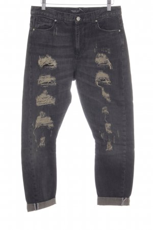 Twin set Boyfriendjeans dunkelgrau Jeans-Optik