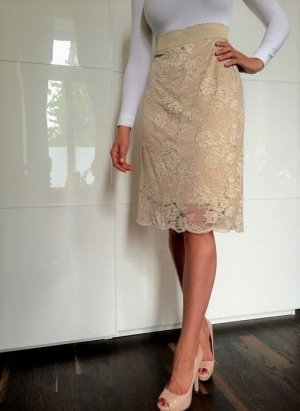 Twin-Set Simona Barbieri Lace Skirt oatmeal
