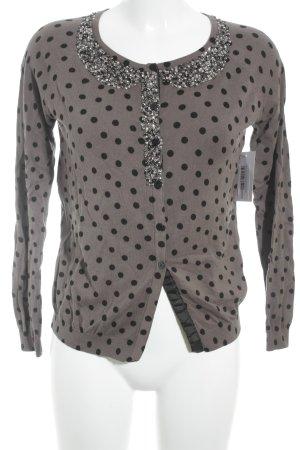 Twin set Cardigan braun-schwarz Punktemuster Street-Fashion-Look