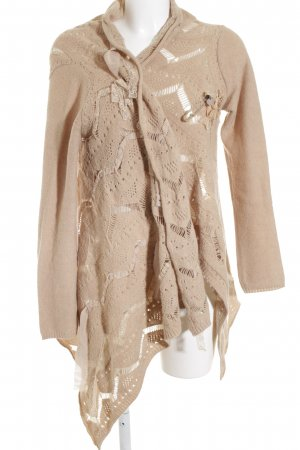 Twin set Cardigan nude Webmuster Romantik-Look