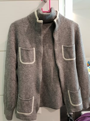 Twin-Set Cashmere mit Wolle grau TOP