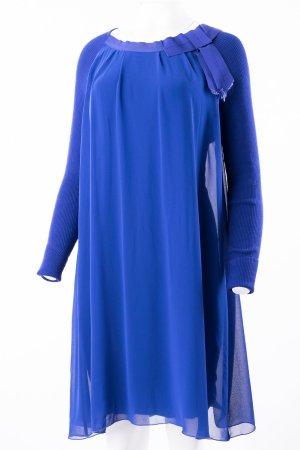 TWIN SET - Dunkelblaues Langarm Kleid mit Schleife