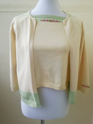 Ensemble en tricot multicolore coton