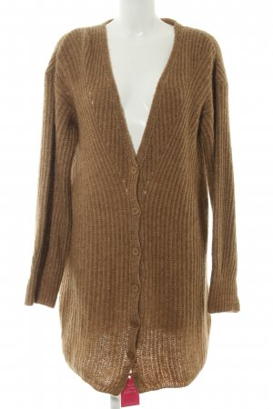 Twin set Coarse Knitted Jacket brown casual look