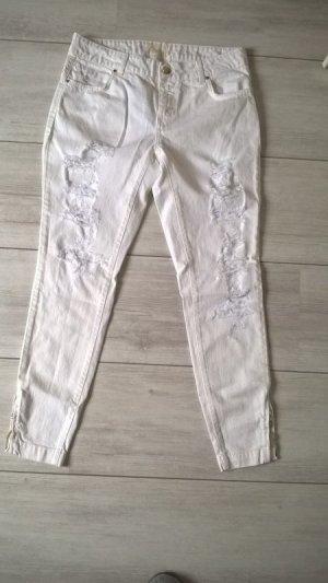 Twin Set Jeans Jeans boyfriend blanc coton