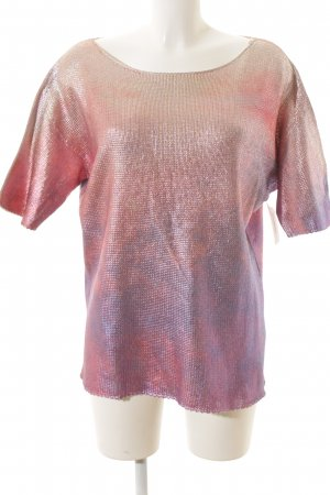 Twin set Short Sleeve Sweater multicolored metallic look
