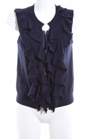 Twin set Short Sleeve Knitted Jacket blue casual look