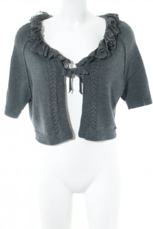 Twin set Short Sleeve Knitted Jacket light grey casual look