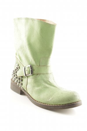 Twin set Stivale a gamba corta verde chiaro-marrone-nero stile stravagante