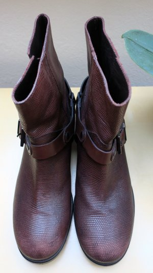 Twin set Western Booties bronze-colored-bordeaux leather