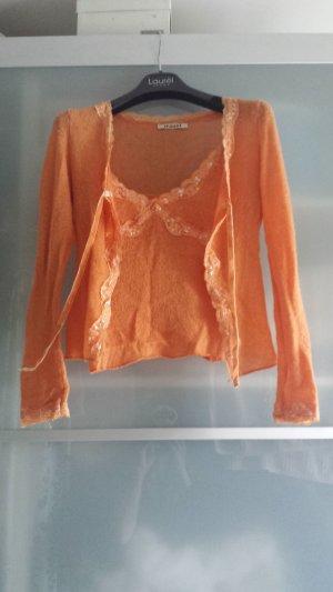 Twin set in maglia albicocca-arancione chiaro Tessuto misto