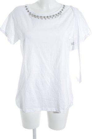 Twin Set My Twin T-Shirt weiß-silberfarben Casual-Look