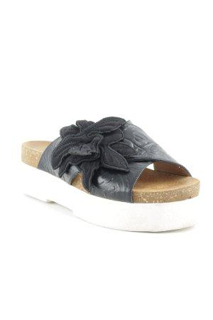 Twin set Plateauzool sandalen zwart casual uitstraling