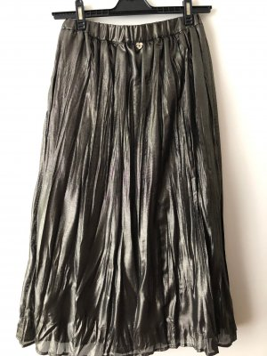 Twin set Pleated Skirt bronze-colored-black polyester