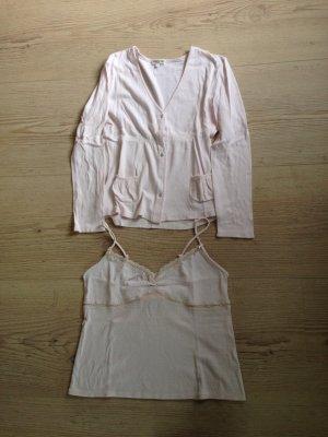 Twin Set Pyjama von Darjeeling Gr L zartrosa neu