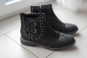 Twin Set Jeans Botines Chelsea negro-color plata