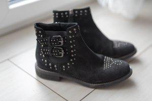 Twin Set Jeans Stivale Chelsea nero-argento