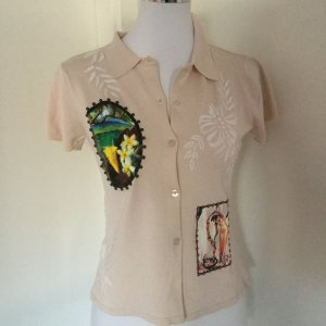 Twin Set Seiden-Strick-Shirt, bzw. kurzärmliger Cardigan