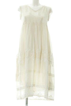 Twin-Set Simona Barbieri A-Linien Kleid creme Romantik-Look