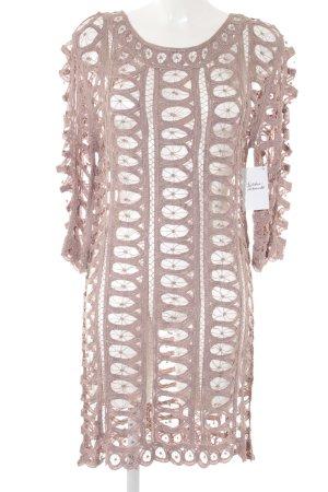 Twin-Set Simona Barbieri Cut out jurk roségoud elegant