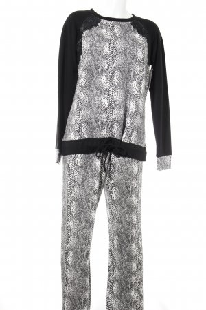 Twin-Set Simona Barbieri Leisure suit black-white leopard pattern fluffy