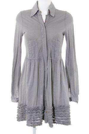 Twin-Set Simona Barbieri Vestido tipo blusón gris claro look casual