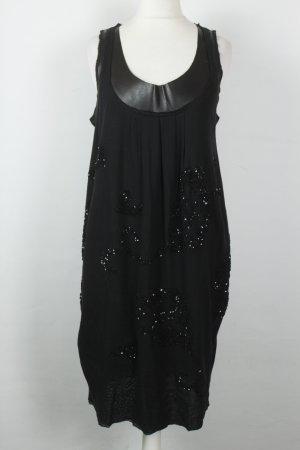 Twin-Set Simona Barbieri Kleid Midikleid Gr. S schwarz Pailletten NEU