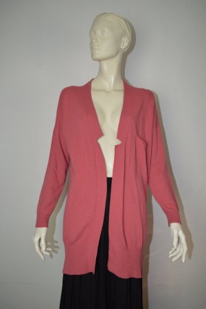 Twin Set Simona Barbieri Long Strickjacke Gr. S Koralle mit Mohair
