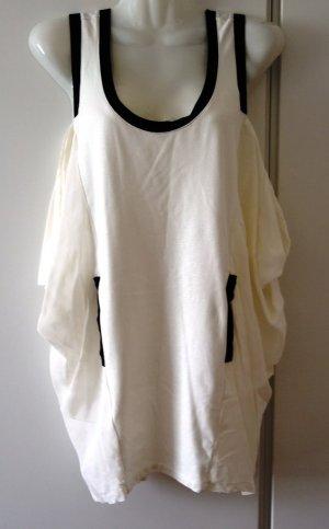 TWIN SET Simona Barbieri Longtop Mini-Kleid schwarz weiß Gr. S/M (36/38)