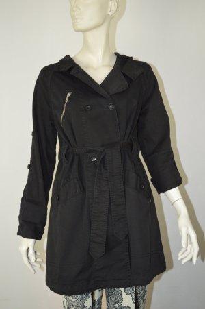Twin-Set Simona Barbieri Abrigo con capucha negro Algodón