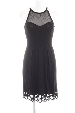 Twin-Set Simona Barbieri Off the shoulder jurk zwart Herzmuster elegant